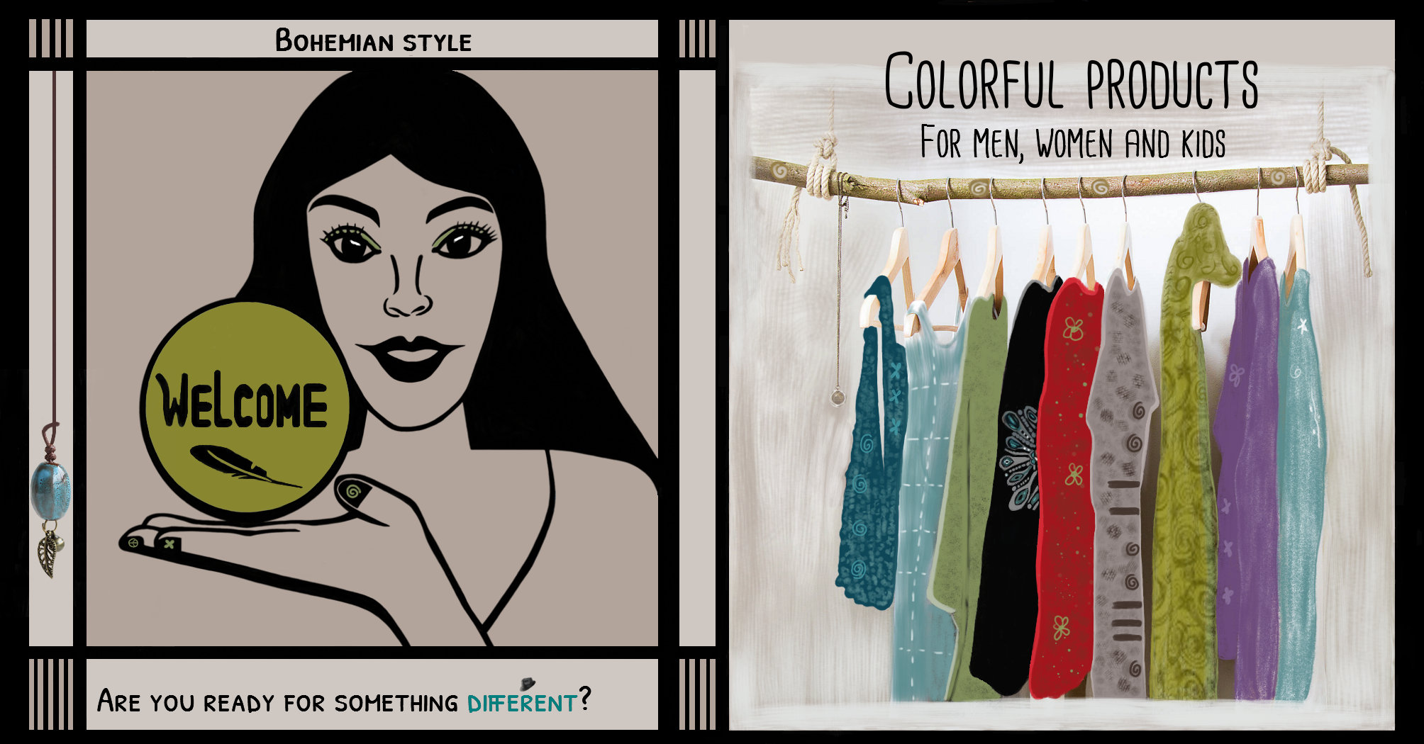Welcome | Are you ready for something different? | Bohemian Style | Colorful Products For Men, Women and kids